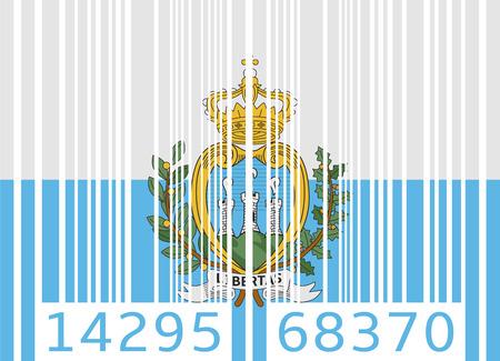 san marino: bar code flag san marino