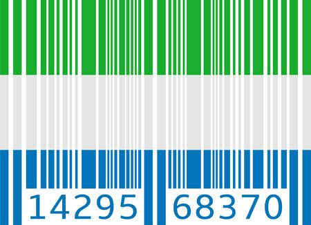sierra: bar code flag sierra leone Illustration