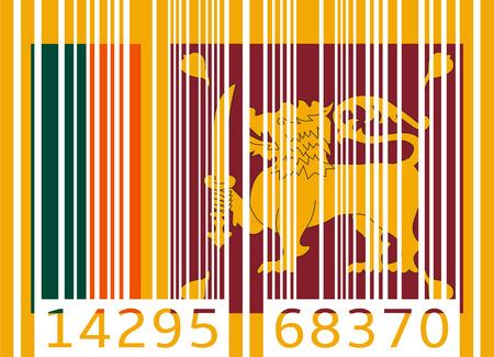 sri lanka: bar code flag sri lanka