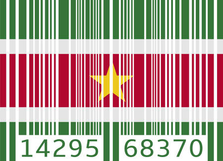 suriname: bar code flag suriname