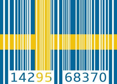 code bar: bar code flag sweden Illustration