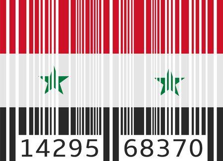 code bar: bar code flag syria