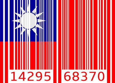 code barre drapeau taiwan