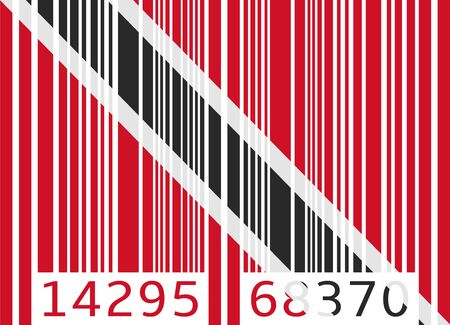 trinidad and tobago: bar code flag trinidad and tobago