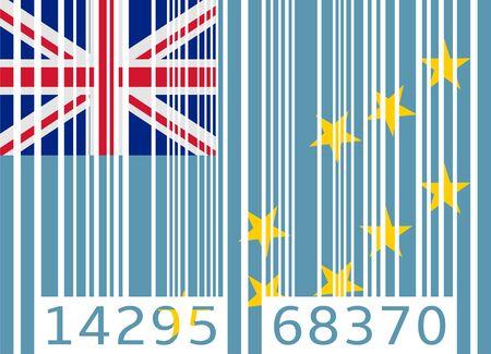 tuvalu: bar code flag tuvalu