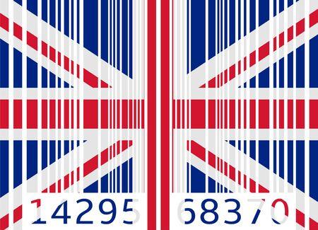 kingdom: bar code flag united kingdom