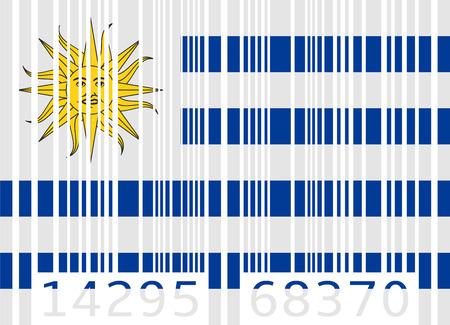 code bar: bar code flag uruguay