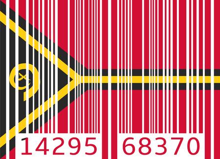 vanuatu: bar code flag vanuatu