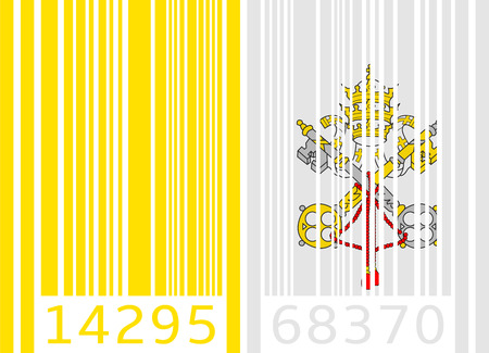 vatican city: bar code flag vatican city