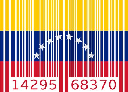 venezuela: bar code flag venezuela Illustration
