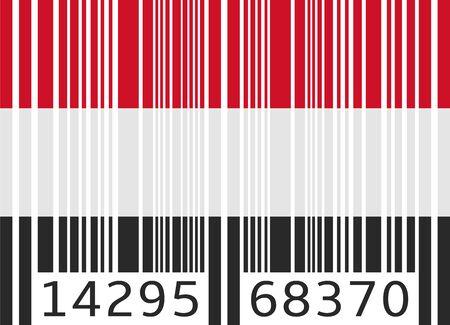 yemen: bar code flag yemen