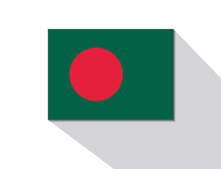 long shadow: bangladesh long shadow flag