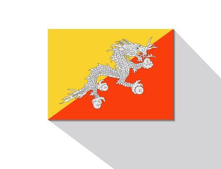 bhutan: Bhutan lange schaduw vlag