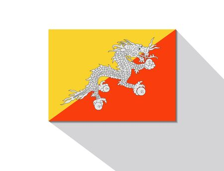 bhutan: bhutan long shadow flag