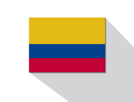 colombia: colombia long shadow flag