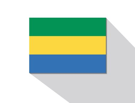 gabon: gabon long shadow flag