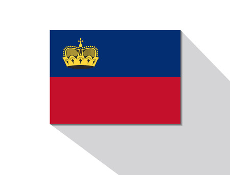 liechtenstein: liechtenstein long shadow flag Illustration