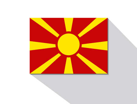 long shadow: macedonia long shadow flag Illustration