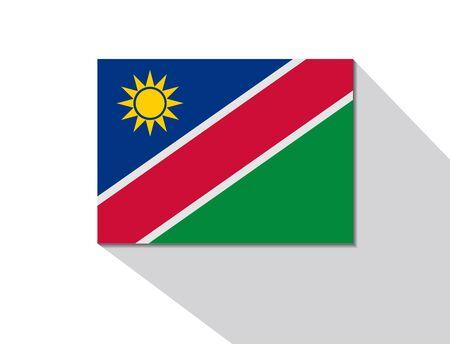 namibia: namibia long shadow flag Illustration