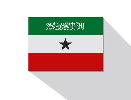 somaliland: somaliland long shadow flag Illustration