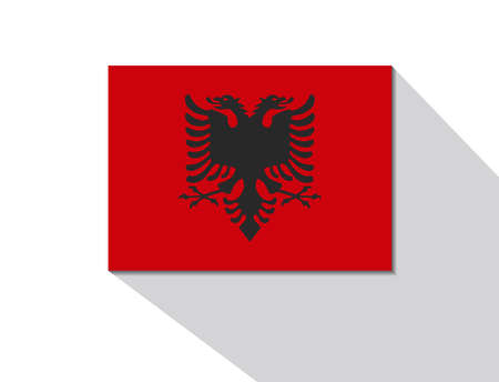 albania: albania long shadow flag Illustration