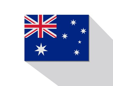 long shadow: australia long shadow flag Illustration