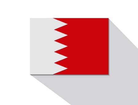 bahrain: bahrain long shadow flag