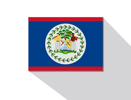 belize: belize long shadow flag