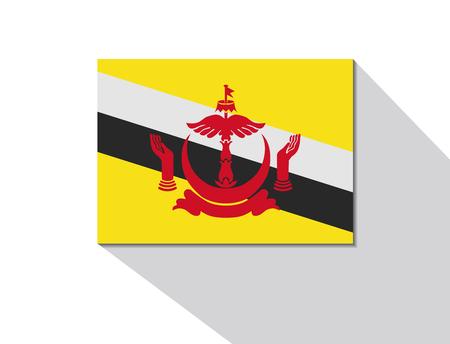 brunei: brunei long shadow flag