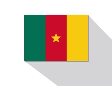 cameroon: Camerun bandiera lunga ombra