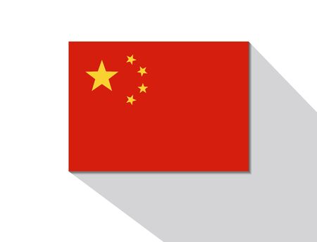 long shadow: china long shadow flag Illustration