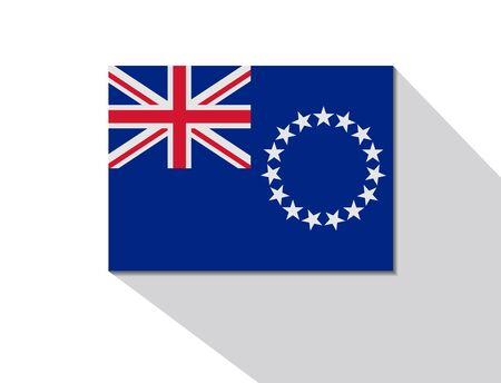 long shadow: cook islands long shadow flag Illustration