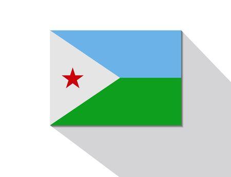 djibouti: djibouti long shadow flag