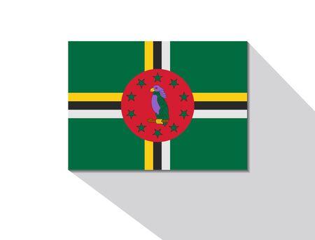 dominica: dominica long shadow flag Illustration