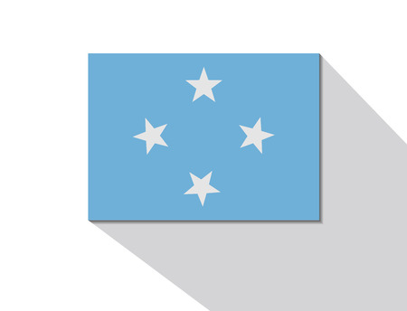 long shadow: micronesia long shadow flag
