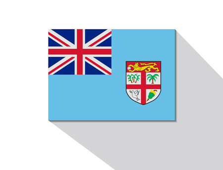 Fiji lange schaduw vlag