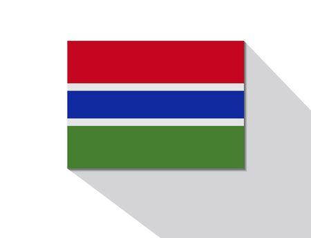 gambia: gambia long shadow flag
