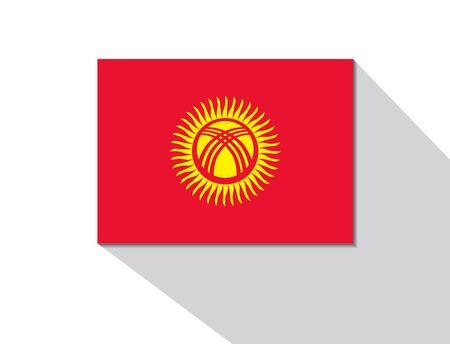 kyrgyzstan: Kirguist�n bandera larga sombra