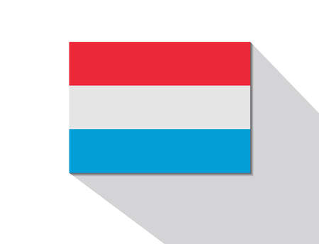 luxembourg: luxembourg long shadow flag Illustration