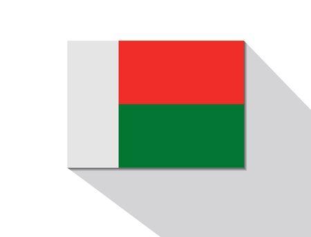 madagascar long shadow flag Vector