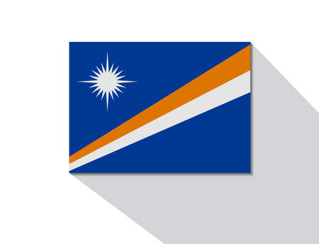 long shadow: marshall islands long shadow flag Illustration