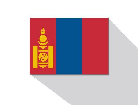 mongolia: mongolia long shadow flag
