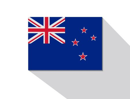 long shadow: new zealand long shadow flag Illustration