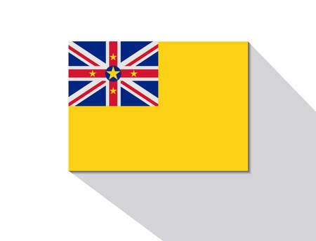 niue: niue long shadow flag Illustration