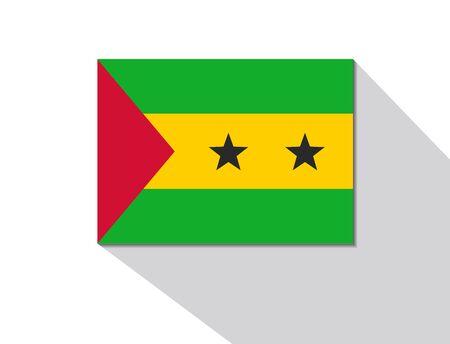 principe: Santo Tomé y bandera larga sombra principe