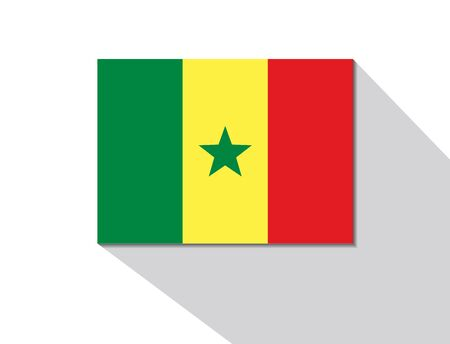 senegal: senegal long shadow flag