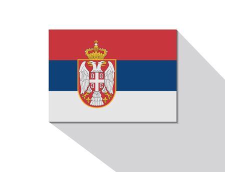 serbien: Serbien langen Schatten flag