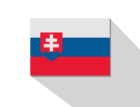 long shadow: slovakia long shadow flag Illustration