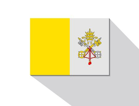 long shadow: vatican long shadow flag Illustration