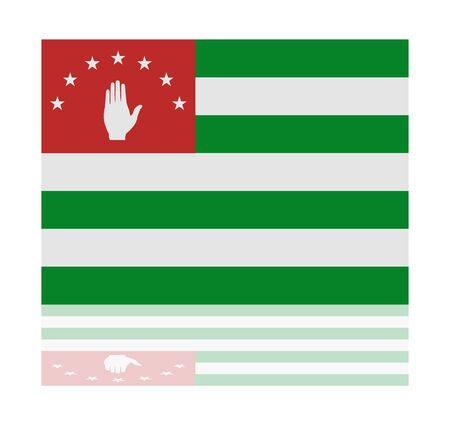 abkhazia: reflection flag abkhazia